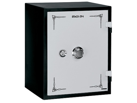 Stack-On Fire Resistant Personal Safe Combination Lock Black with White Door