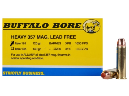 Buffalo Bore Ammunition 357 Magnum 125 Grain Barnes TAC-XP Hollow Point Lead-Free Box of 20