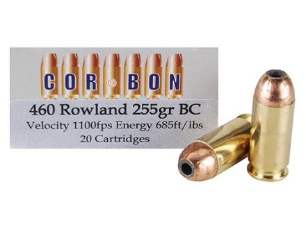 Cor-Bon Hunter Ammunition 460 Rowland 255 Grain Bonded Core Box of 20