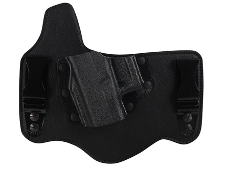 Galco King Tuk Tuckable Inside the Waistband Holster Left Hand Glock 17, 19, 26, 22, 23, 27  Leather and Kydex Black