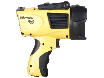 Streamlight WayPoint Spotlight LED requires 4 C Batteries or included 12 Volt DC Power Cord Polymer Yellow