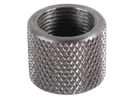 "Gentry Thread Protector Cap 1/2""-28 Thread .650"" Outside Diameter x 1/2"" Length Knurled Stainless Steel"