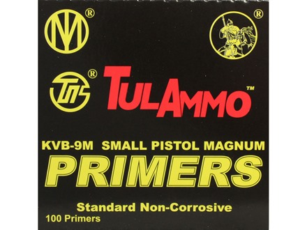 TulAmmo Small Pistol Magnum Primers Case of 5000 (5 Boxes of 1000)