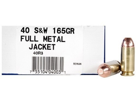 Ultramax Remanufactured Ammunition 40 S&W 165 Grain Full Metal Jacket Box of 50