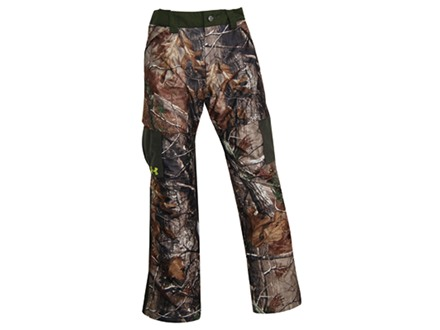 Under Armour Men's DeadCalm Scent Control Fleece Pants Polyester Realtree AP Camo 38 Waist