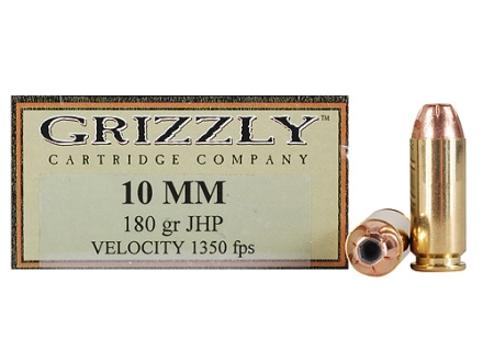 Grizzly Ammunition 10mm Auto 180 Grain Hollow Point Box of 20
