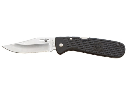 "SOG AutoClip Folding Tactical Knife 3.5"" Clip Point 420 Stainless Steel Blade GRN Handle Black"