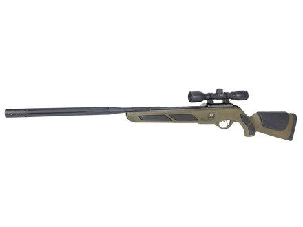 Gamo Bone Collector Bull Whisper IGT Air Rifle .22 Caliber Green Synthetic Stock Fluted Barrel with Gamo Airgun Scope 4x32mm