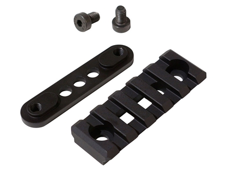 "Lancer Systems Picatinny Rail 2"" Fits Lancer LCH Vented Carbon Fiber Handguards Aluminum Black"