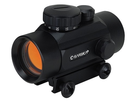 Barska Red Dot Sight 30mm Tube 1x 5 MOA Dot with Integral Weaver-Style Mount Matte