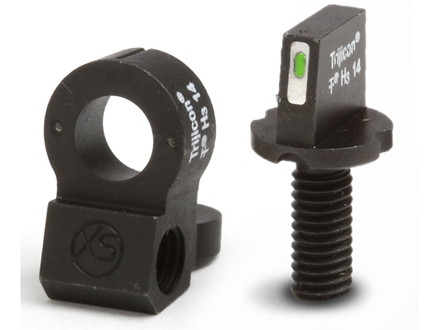 XS 24/7 Tactical Sight Set AR-15 Steel Matte Tritium Bar Front, Tritium Ghost Ring Rear