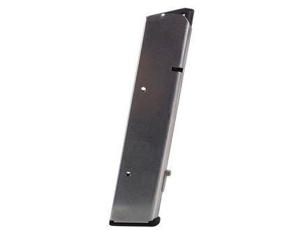 Wilson Combat Magazine with Base Pad 1911 Government, Commander 45 ACP 10-Round Stainless Steel