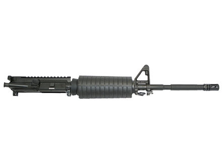 "CMMG AR-15 M4 LE A3 Flat-Top Upper Assembly 5.56x45mm NATO 1 in 9"" Twist 16"" Barrel Chrome Moly Matte with M4 Handguard, A2 Front Sight, Flash Hider"