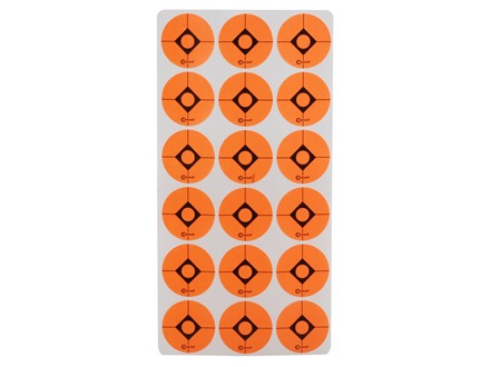 "Caldwell Shooting Spots 1"" Pack of 12 Sheets 18 Spots per Sheet Orange"