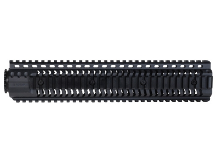 SI Defense 2-Piece Customizable Quad Rail Free Float Handguard LR-308 Rifle Length Matte