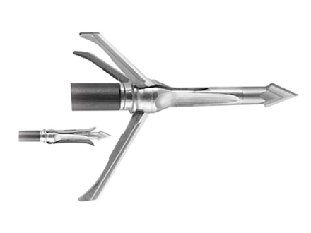 Grim Reaper Razorcut SS Whitetail Special Mechanical Broadhead 100 Grain Stainless Steel Pack of 3