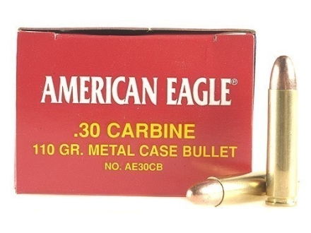 Federal American Eagle Ammunition 30 Carbine 110 Grain Full Metal Jacket