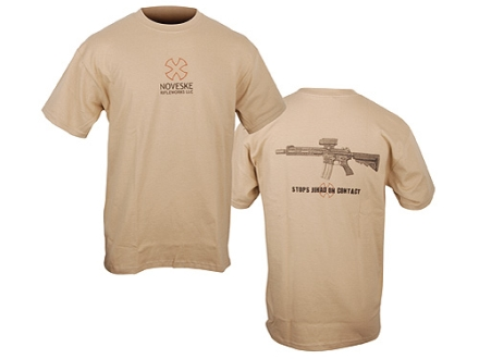 Noveske T-Shirt Short Sleeve Cotton/Polyester Tan Small