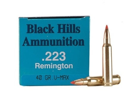 Black Hills Remanufactured Ammunition 223 Remington 40 Grain Hornady V-Max Box of 50