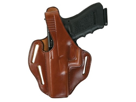 Bianchi 77 Piranha Belt Holster Left Hand Glock 26 Leather Tan