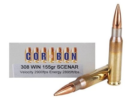 Cor-Bon Performance Match Ammunition 308 Winchester 155 Grain Lapua Scenar Box of 20