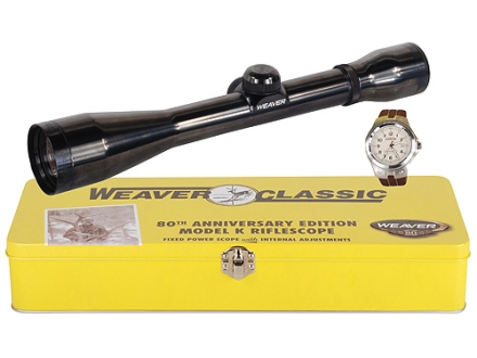 Weaver Classic K-Series K4 Rifle Scope 4x 38mm Dual-X Reticle Gloss