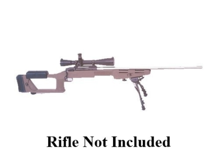"Choate Ultimate Sniper Rifle Stock Remington 700 ADL Long Action 1.25"" Barrel Channel Left Hand Synthetic Olive Drab"