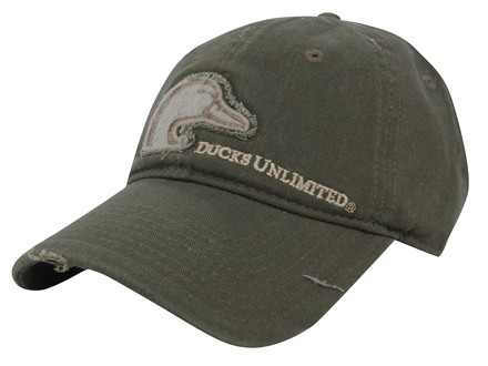 Ducks Unlimited Frayed Logo Cap Cotton Olive