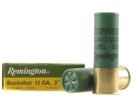 "Remington Express Ammunition 12 Gauge 3"" 00 Buckshot 15 Pellets Box of 5"