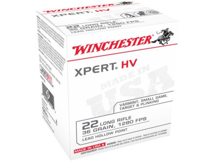 Winchester Xpert Ammunition 22 Long Rifle High Velocity 36 Grain Lead Hollow Point