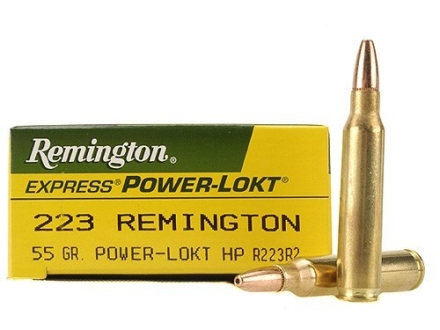 Remington Express Ammunition 223 Remington 55 Grain Hollow Point Power-Lokt Box of 20