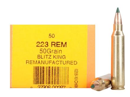 HSM Remanufactured Ammunition 223 Remington 50 Grain Sierra BlitzKing Polymer Tip Boat Tail