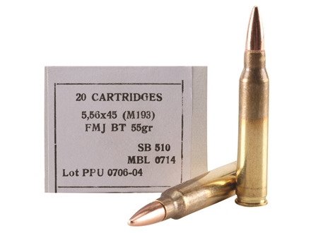 Prvi Partizan Ammunition 5.56x45mm NATO 55 Grain M193 Full Metal Jacket Box of 20