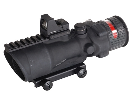 Trijicon ACOG TA648-RMR BAC Rifle Scope 6x 48mm Dual-Illuminated Red Chevron 223 Remington Reticle with 6.5 MOA RMR Red Dot Sight and TA75 Flattop Mount Matte