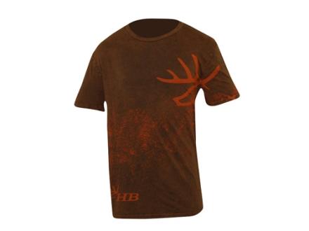 Heartland Bowhunter Men's Invaluable T-Shirt Short Sleeve Cotton Brown 2XL 48-50