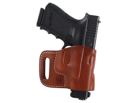 El Paso Saddlery Combat Express Belt Slide Holster Right Hand Glock 17, 19, 26, 22, 23, 27, 31, 32, 33 Leather Russet Brown