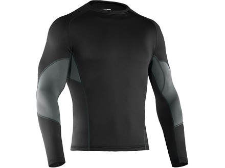 Under Armour Men's BaseMap 1.5 Crew Base Layer Shirt Polyester Black Large 42-44