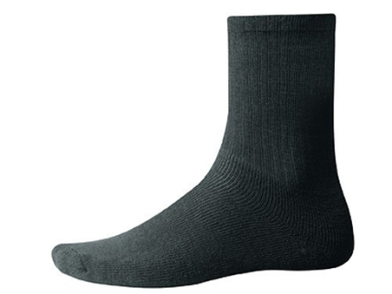 Wool Power Men's 400 Gram Crew Socks Wool Black Large (7-10)