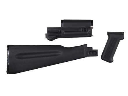 Arsenal, Inc. Complete Buttstock and Handguard Set NATO Length AK-47, AK-74 Stamped Receivers Polymer Black