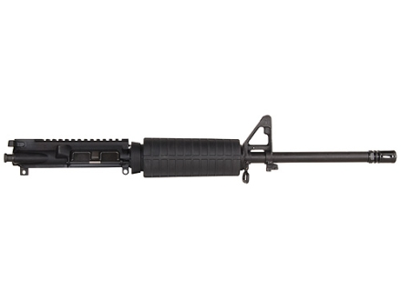 "Olympic Arms AR-15 A3 Flat-Top Upper Assembly 300 AAC Blackout 1 in 8"" Twist 16"" Barrel Stainless Steel Black with M4 Handguard, A2 Front Sight, Flash Hider"