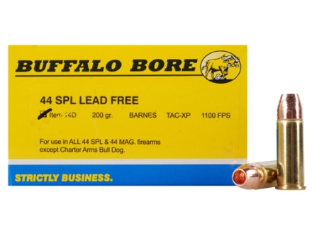 Buffalo Bore Ammunition 44 Special 200 Grain TAC-XP Hollow Point Lead-Free Box of 20