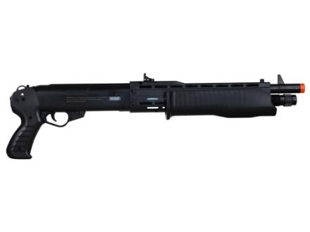 Stunt Studios Stunt Police Franchi SPAS12 Airsoft Shotgun 6mm BB Spring Semi-Automatic Polymer Black