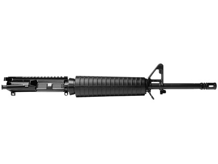 "Del-Ton AR-15 A3 Flat-Top Upper Assembly 5.56x45mm NATO 1 in 7"" Twist 16"" Mid Length Medium Contour Barrel Chrome Lined Chrome Moly Matte with CAR-Style Handguard, Flash Hider"
