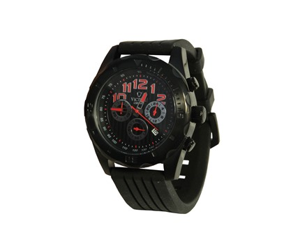 Victory Instruments V-Compete Watch Silcone Band Black