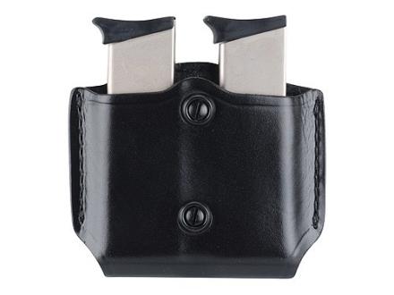 Gould & Goodrich B851 Belt Double Magazine Pouch Beretta 83, 85, 87, Kahr Micro MK9, Elite MK9, MK40, E9, K9, P9, K40, P40, Covert 40, Sig P230, P232, Walther PP, PPK, PPK/S, PPK/E Leather Black