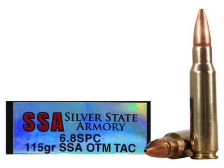 Silver State Armory Ammunition 6.8mm Remington SPC 115 Grain Open Tip Match Tactical Box of 20