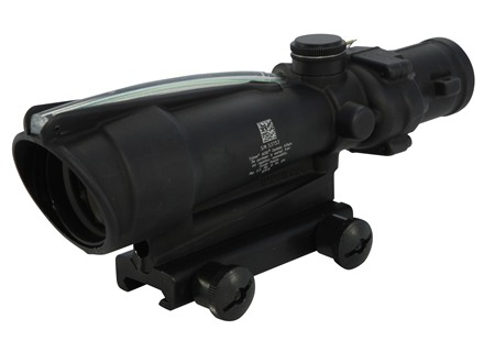 Trijicon ACOG TA11 BAC Rifle Scope 3.5x 35mm Dual-Illuminated Chevron 308 Winchester Reticle with TA51 Flattop Mount Matte