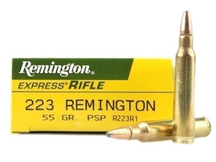 Remington Express Ammunition 223 Remington 55 Grain Pointed Soft Point Box of 20