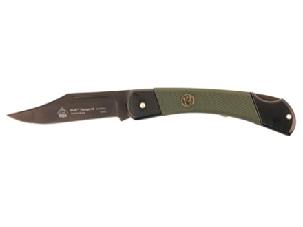 "Puma SGB Series Ranger30 Folding Knife 3.2"" Clip Point German 440A Stainless Steel Black Titanium Coated Blade Polymer Handle Green"