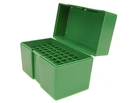 RCBS Flip-Top Ammo Box 25-06 Remington, 270 Winchester, 30-06 Springfield 50-Round Plastic Green